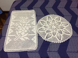 Juego de 16 carpetas tejidas al crochet
