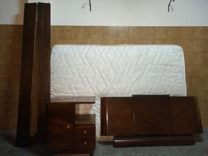 Juego de dormitorio en madera viraró maciza