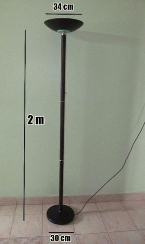 Lampara de pie halogena luz regulable c/ lampara