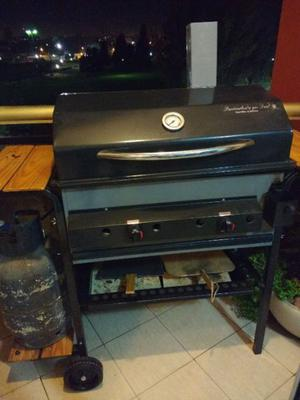 Parrilla dual a gas