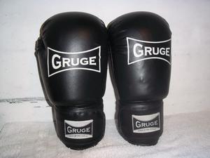 guantes de boxeo gruge 12 oz con muñequera profesionales