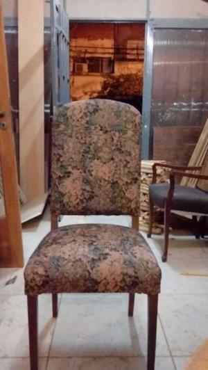Juego de 6 sillas antiguas respaldo tallado posot class for Sillas de comedor antiguas