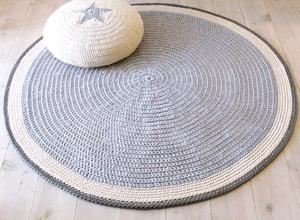 Alfombras tejidas al crochet con totora pie posot class for Alfombras redondas ikea