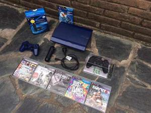 Play Station 3 (Ps3) + 6 Juegos + 2 Joystick + Set Move