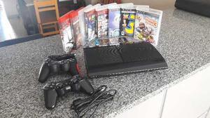 Playstation 3 Slim 500gb Con 9 Juegos Originales Oportunidad