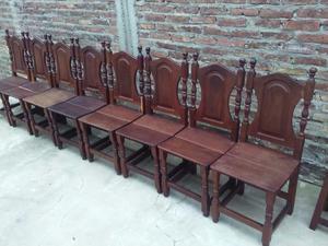 8 sillas de algarrobo modelo stilo