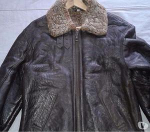 Camperas de cuero con abrigo
