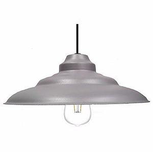 Colgante Chapa Plateado C/lampara Led Philips