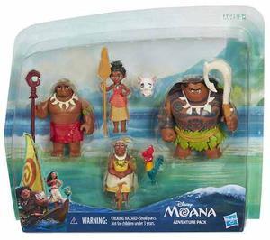 Disney Moana Adventure Pack Con 6 Personajes Original Hasbro
