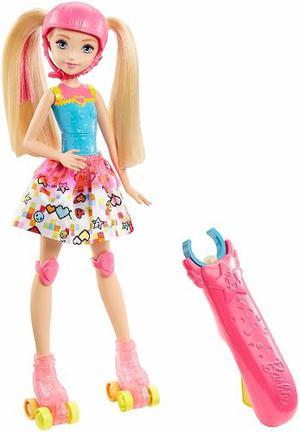 Muñeca Barbie Video Game Heroe Con Patines. Mattel.