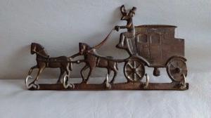 porta llaves antiguo de bronce macizo