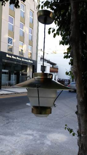 Antigua Lampara Colgante De Aluminio Retro
