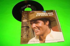 ELVIS PRESLEY GUITAR MAN B/W FADED LOVE