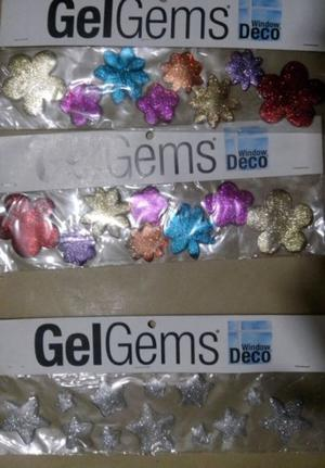 GEL GEMS Window DECO Sets de Flores y Set de estrellas $75