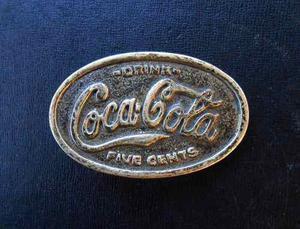 Hebilla De Cinturón De Coca Cola.