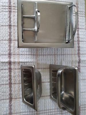 Kit Set Accesorios Para Baño Acero Inoxidable (usado)