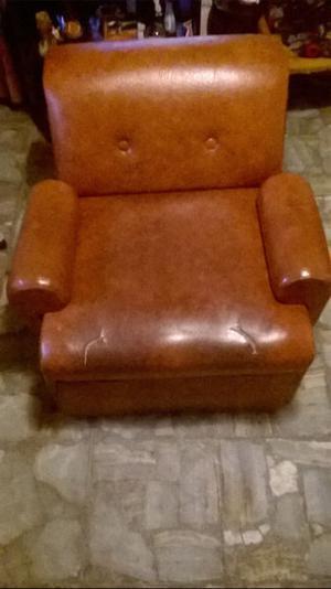 Sofa Cama Elegante De Cuero 1 Plaza con Respaldo y Apoya