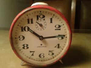 reloj despertador junghans vintage rojo