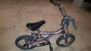 Bicicleta niño rod  casi sin uso con rueditas