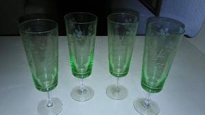 Copas de cristal para champagne