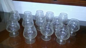 Copas de cristal para coñac