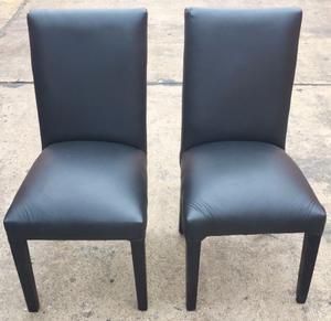 El Restaurador - Juego de 4 sillas de madera y cuerina