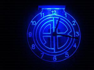 RELOJES LED MOTIVOS FÚTBOL. De 25 cm de diámetro..
