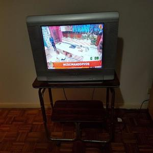 Televisor Noblex 21 Pulgadas + Mesita. Funcionando Ok