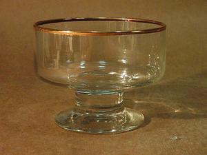 12 Copas Para Cóctel Cristal con Virola Oro