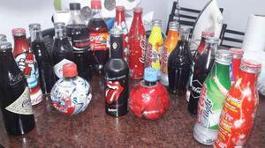 Colección Botellas Coca Cola Y Una De Quilmes The Rolling