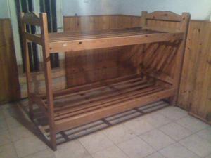 Cama Cucheta De Madera -pino-1.90 X 0.80 (tenemos Colchones)