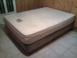 Sommier Gani-meyer 2 Plazas.colchón De Resortes/goma