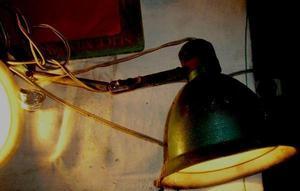 antigua lampara regulable chapa escritorio mesa dibujo