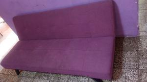 Sillon cama chenille violeta