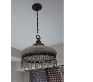 VELADORESPORCELAN LAMPARAS COLGANTES USADOS EXCELENTE ESTADO