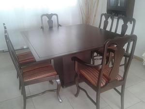 juego mesa de comedor Michael Thonet con sillas
