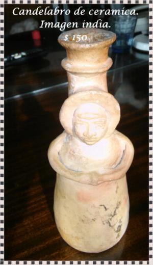 Candelabro de ceramica