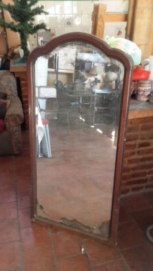Espejo antiguo marco de madera