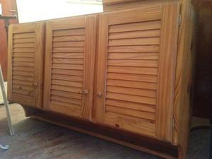Biombo de pino y junco pintado y barnizado posot class - Mueble de pino ...