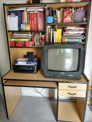Mueble para computadora y biblioteca