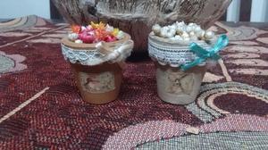 Macetas decoradas decoupague