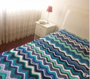 Manta tejida cama individual