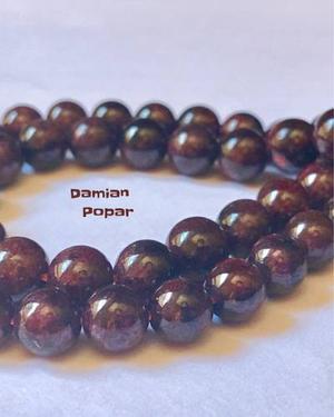 Perlas De Piedras Naturales Granate 10mm