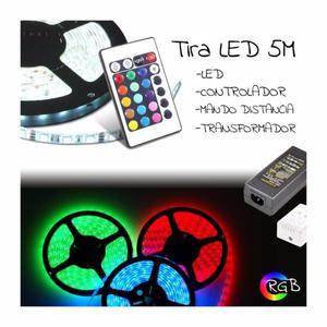 # TIRA LED RGB 5 METROS CON CONTROL REMOTO Y TRANSFORMADOR