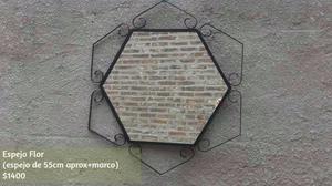 Espejos con marco de hierro. FABRICAMOS.