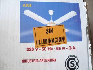 Ventilador De Techo Sin Luz. Axel