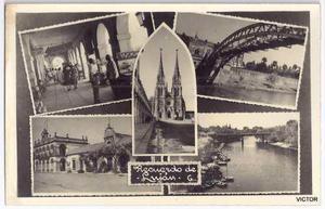 antigua foto postal vistas y recuerdo de lujan bs as