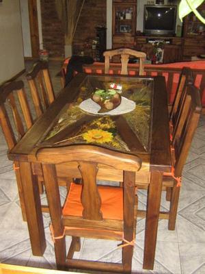 mesa cerealera de pino