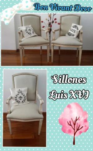 Par de sillones Luis XVl