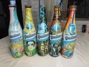 5 botellas edicion musica quilmes